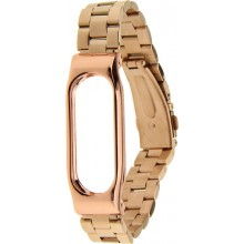 Ремешок UWatch Metal Strap For Xiaomi Mi Band 2 Rose Gold